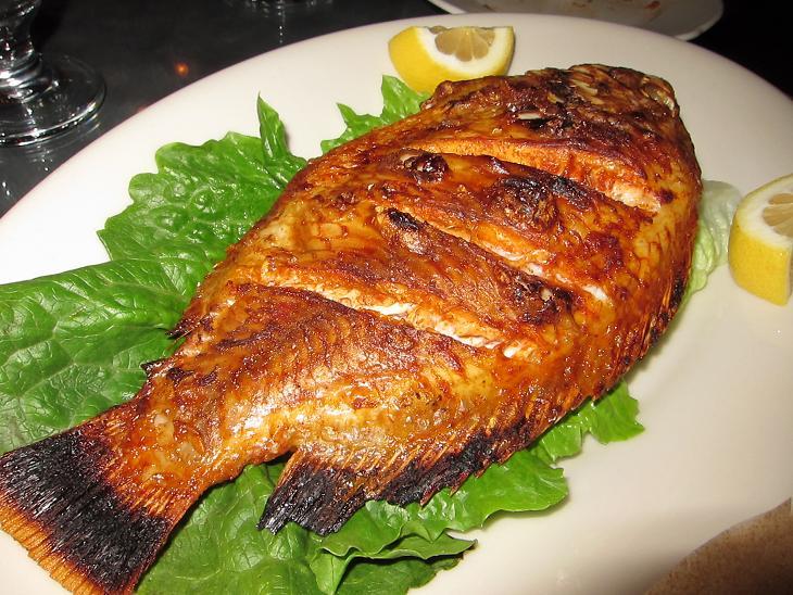 Sizziling tilapia bar bq village for Fish steak recipe
