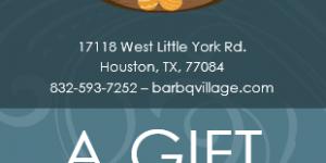 10% off on your next dine-in at Bar BQ Village